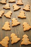 Christmas tree cookies Stock Photos