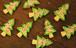 Free Christmas Tree Cookies Royalty Free Stock Photo - 27769045