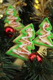 Christmas tree cookies Royalty Free Stock Photos