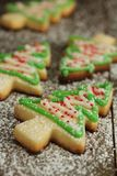 Christmas tree cookies Stock Images