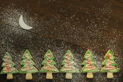 Christmas tree cookies Stock Image