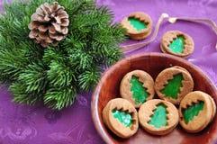 Christmas Tree Cookies Royalty Free Stock Photo