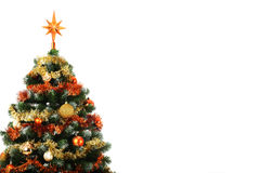 Christmas tree with copy space Stock Image