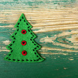 Christmas tree, copy space Stock Images