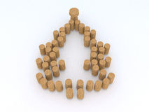 Christmas tree with corks stock illustration