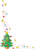 Christmas Tree Corner Royalty Free Stock Image