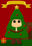 Christmas tree costume Royalty Free Stock Images