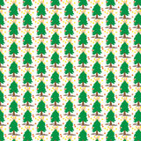 Christmas tree cover tile fabric pattern background vector illustration design Abstract wallpaper Royalty Free Stock Image