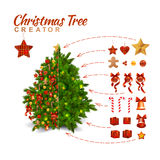 Christmas Tree Creator Royalty Free Stock Image