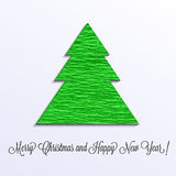 Christmas tree of crep papeer Royalty Free Stock Photography