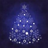 Christmas tree. Cristmas tree with white snowflakes Royalty Free Stock Image