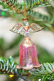 Christmas tree crystal angel bell decoration stock image