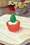Christmas tree cupcake Stock Photography
