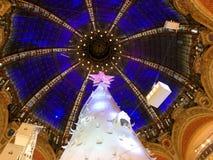 Christmas tree and cupola Royalty Free Stock Photos