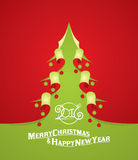 Christmas tree curl paper Royalty Free Stock Images