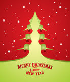 Christmas tree curl paper Royalty Free Stock Image