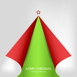 Christmas tree from curled corner paper Royalty Free Stock Images