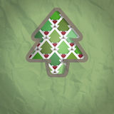 Christmas Tree Cut-out Background Royalty Free Stock Photos