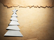 Christmas tree cut out from paper Royalty Free Stock Photo
