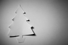 Christmas tree cut out from paper Royalty Free Stock Image