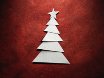 Christmas tree cut out from paper stock photo