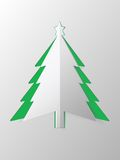 Christmas tree  cut out paper vector Stock Photo