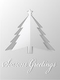 Christmas tree  cut out paper vector Royalty Free Stock Image