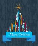 Christmas Tree Cutlery background Stock Image