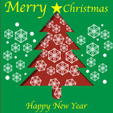 Christmas Tree Cutout Royalty Free Stock Image