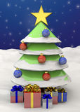 Christmas Tree - 3D Royalty Free Stock Photography