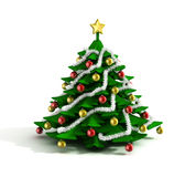 Christmas tree 3d illustration Stock Photo