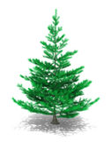 Christmas Tree. 3D image of christmas tree on white background Stock Images