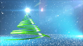 Christmas Tree. 3D render of abstract Christmas Tree