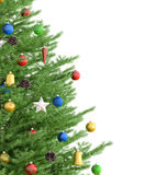 Christmas tree 3d rendering. Christmas tree  over white 3d rendering Stock Image