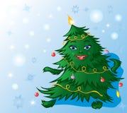 Christmas tree dance Royalty Free Stock Photos