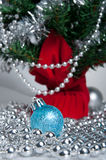 Christmas tree and decor Stock Image