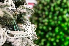 Christmas tree with decor closeup, new year Stock Photography
