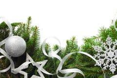 Christmas tree with decor Royalty Free Stock Image