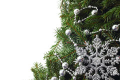 Christmas tree with decor Royalty Free Stock Photo