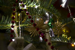 Christmas tree decor Stock Images