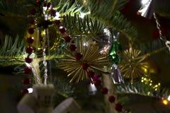Christmas tree decor Stock Images