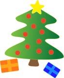 Christmas tree decor Stock Photos