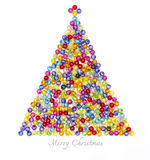 Christmas tree decorate by colorful beads Stock Photo