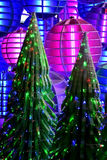 Christmas tree decorate with colorful lighting Royalty Free Stock Photography