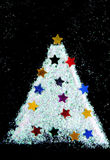 Christmas tree decorate from glitter Royalty Free Stock Photos