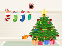 Christmas tree decorate Stock Image