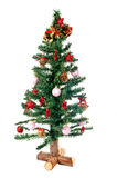 Christmas tree decorated. Over a white background Stock Photo