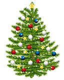 Christmas tree decorated. Royalty Free Stock Photo