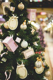 Christmas tree decorated with boxes Royalty Free Stock Image