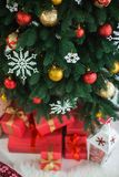 Christmas tree decorated for celebration Royalty Free Stock Image